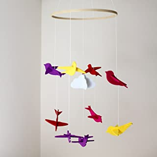 Felt Baby Mobile by Creoly (9.5 x 33.5 inches) (Flying Birds)
