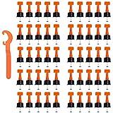 Distanziatori per Piastrelle,Livellatori per Piastrelle,Autolivellante per Pavimenti,Cunei per Piastrelle,Livellatore Riutilizzabile Piastrelle,per Piastrelle, Pavimenti e Pareti,50 Pezzi