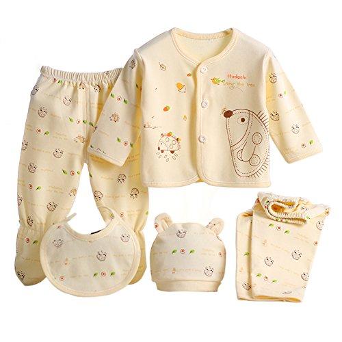 Per 5 piezas Conjuntos de ropa para bebé Canastilla de algodón Ropa interior Regalo para Recién Nacido