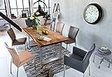 SAM Baumkantentisch 180x90 cm Quarto, nussbaumfarbig, Esszimmertisch aus Akazie, Holz-Tisch mit silber lackierten Beinen - 2