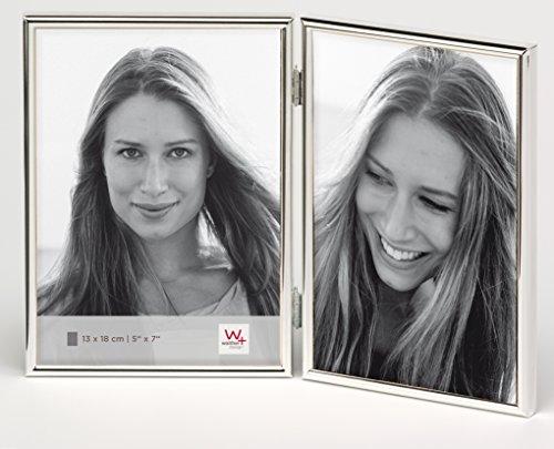 walther design WD218S Chloe Portraitrahmen 2X 13x18 cm, silber