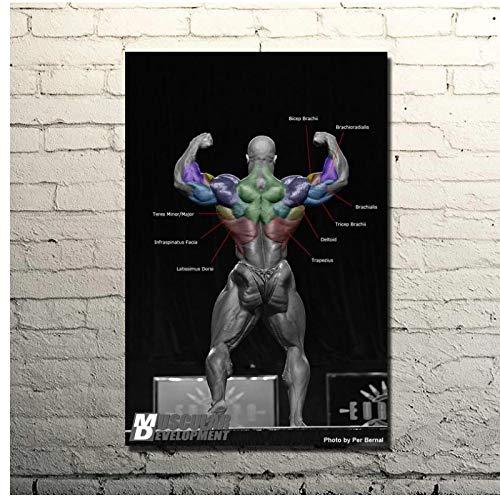 Yxjj1 RONNIE COLEMAN-Cita motivacional de culturismo, póster artístico impreso, decoración de habitación de gimnasio, imagen deportiva de fitness, 20x30 pulgadas sin marco