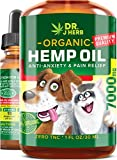 Hemp Oil for Dogs Cats Natural Hemp Extract Drops 1000 mg Made in USA Natural Dog Pain Relief Pet Stress & Anxiety Calming Support Health Easily Apply to Treats Pet Hemp Oil