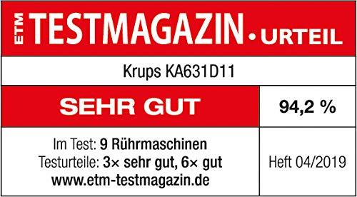Krups KA631D11Master Perfect Gourmet Küchenmaschine (1100 Watt, Gesamtvolumen: 4,6 Liter, inkl.: Back-Set, Schnitzelwerk, Fleischwolf, Delica Tool, Flex Bowl, Flex Whisk) silber - 11