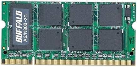 BUFFALO PC2-6400 800MHz対応 200Pin用 DDR2 S.ODIMM for Mac 2GB A2/N800-2G