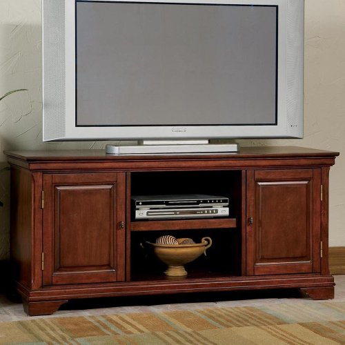 Big Sale Best Cheap Deals Home Styles 5537-12 Lafayette Entertainment TV Stand, Cherry Finish