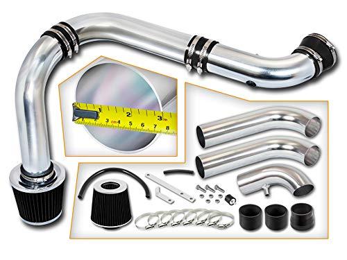 Rtunes Racing Cold Air Intake Kit + Filter Combo BLACK Compatible For 03-08 Dodge Ram 1500 2500 3500 Hemi 5.7L V8 (3 Piece)