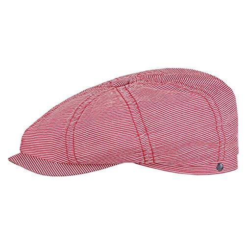Stetson Casquette Hatteras Coton Stripe Homme - Gavroche Plate avec Visiere Printemps-ete - M (56-57 cm) Pink