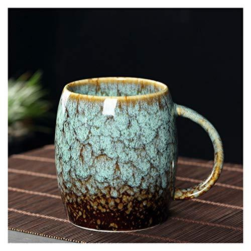 XFY Tazas de cerámica retro, tazas de café, hornos acristalados de taza de café regalos lindos tazas de café y color cambiantes tazas (Color : C)