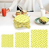 ラップ エコラップ 蜜蝋 キッチン 食材 果物 可洗浄 重複使用 撥水 分解可能 環境に優しい 20Cm 28Cm 35Cm 3枚バック