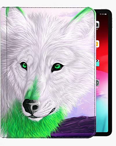 For iPad Pro 9.7 inch Case Cover,Green Eyes Animal Wolf Case Slim Shell Cover For iPad Pro 9.7