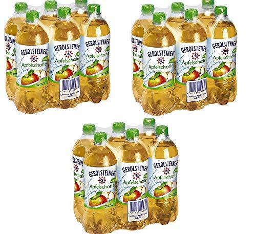 18 Flaschen Gerolsteiner Apfel Schorle (50% Apfelsaft) + Mineralwasser a 750ml PET inc. 4,50€ EINWEG Flasche
