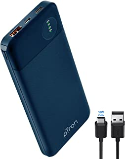 pTron Dynamo Pro 10000mAh 18W QC3.0 PD Power Bank, Made in India, Fast Charge, Type-C & Micro USB Input Ports, with 18W Ty...