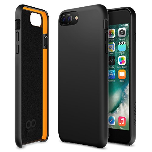 iPhone 8 Plus Case, iPhone 7 Plus Case, Maxboost [SnapPro Series] Apple iPhone 8/7/6s/6 Plus Cover with Gel Cushion [Matte Black] Premium Shock-Absorption Protection Frame Enhanced Soft Touch Coating