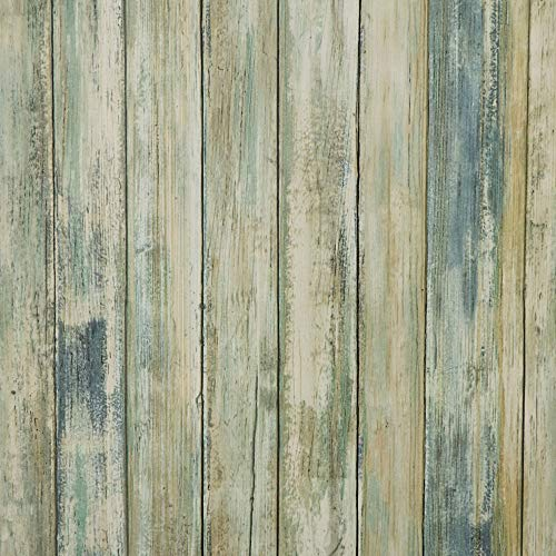 11.8' x78.7' Wood Peel and Stick Wallpaper Self-Adhesive Removable Wood Decorative Wall Paper Covering Vintage Wood Panel Interior Film Faux Distressed Wood Plank Wooden Grain Film Vinyl Decal Roll