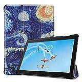Fine Finet Coque pour Lenovo Tab P10 TB-X705 / M10 TB-X605F 10.1', Ultra Mince Étui à Trois Volets...