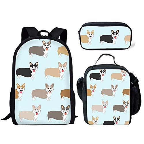 Bolsas Escolares para niñas y niños para la Escuela Secundaria Galaxy Space Wolf Print Bookbag Sets