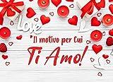 Il Motivo per Cui Ti Amo!: Ti amo perchè... 50 Coupon Vuoti da Compilare | Relazione per le CoppieIl | Regalo Perfetto per Una Coppia