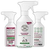 C&G Animali Domestici | Deodorante per LETTIERA per Gatti 500ML | Formula AD Azione Rapida Senza CRUDELTÀ al 100% | NEUTRALIZZA I Cattivi ODORI | Antibatterico E ANTIMICOTICO | ENZIMI Naturali