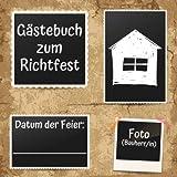 Gästebuch zum Richtfest: Erinnerungsbuch zur Einweihung, Einzug oder Richtfest - 110 Seiten mit schönem Soft-Cover Design - 21x21cm Format