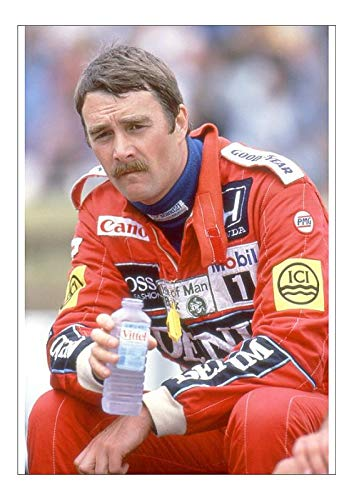 Poster of race winner Nigel Mansell at the 1987 British Grand Prix (Silverstone). He was driving for WIlliams-Honda at the time.