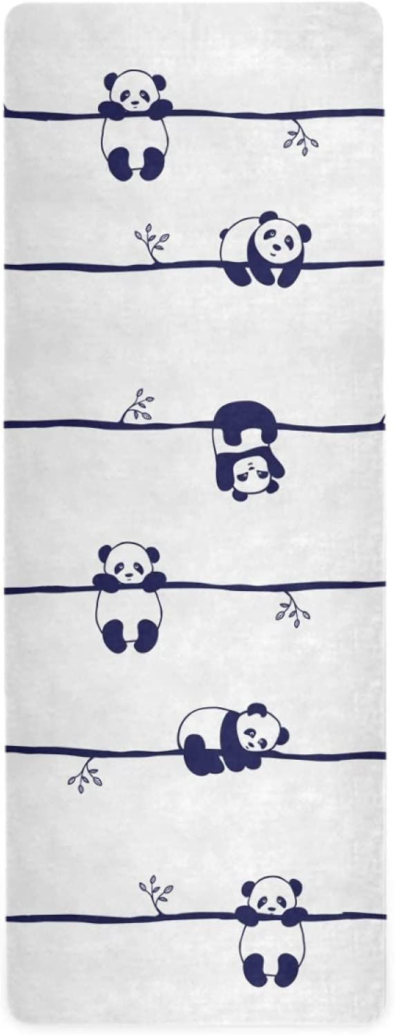 Cute Easy-to-use Animal Panda Yoga Mat for Women Thin Ultra 1 Tr Slip MM Non New arrival