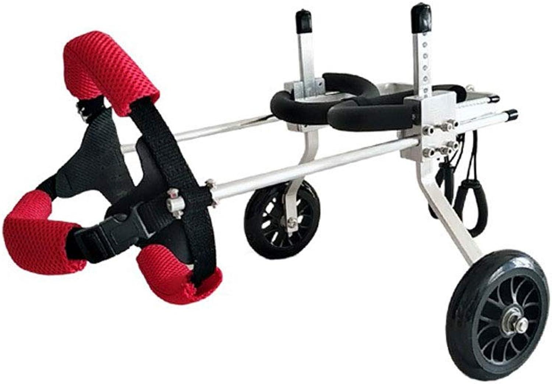 NHLCW Dog wheelchair, 2 Wheels,Adjustable Pet Dog Wheelchair for Back Leg Rehabilitaion, Veterinarian Approved  Wheelchair for Back Legs