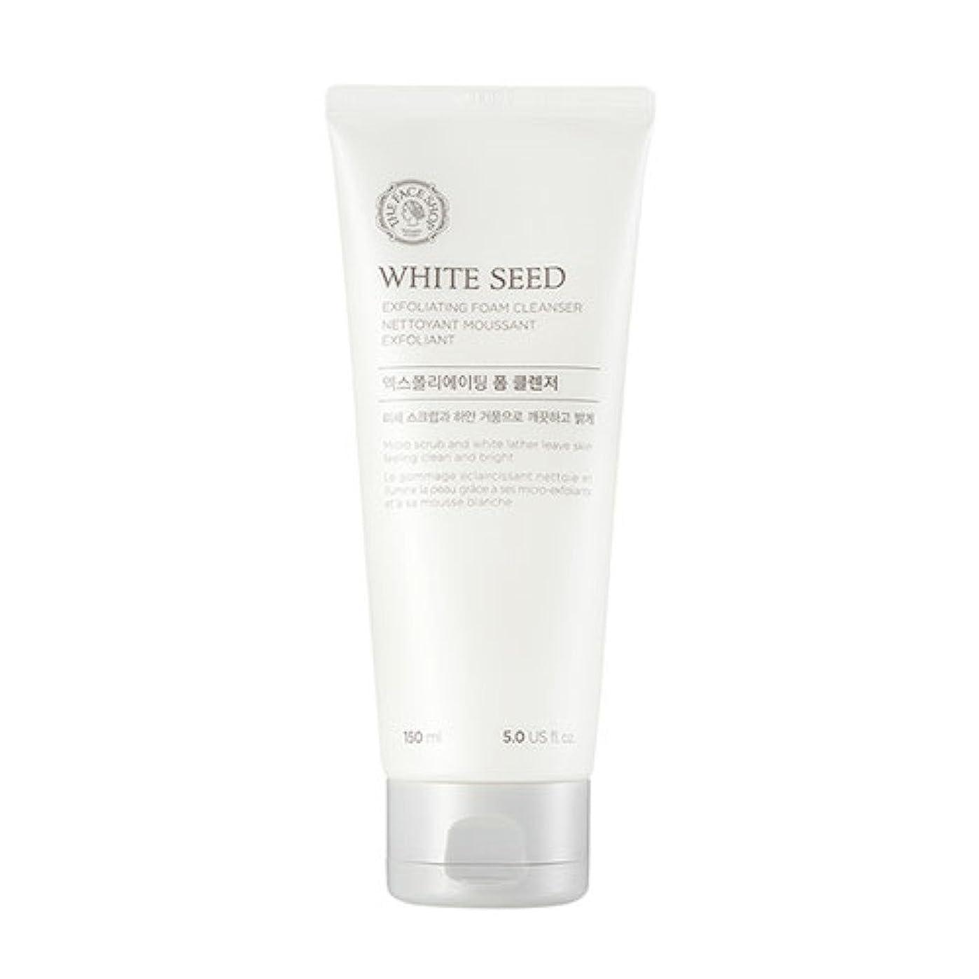 洞窟農夫クスコ[ザフェイスショップ] The Face Shop ホワイトシードエクスフォリエイティングクレンザー(150ml) The Face Shop White Seed Exfoliating Foam Cleanser(150ml) [海外直送品]