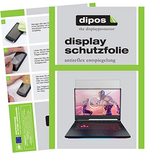 dipos I Schutzfolie matt kompatibel mit Asus ROG Strix Scar III G531GU Folie Bildschirmschutzfolie