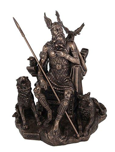 Odin Germanisch Gott Wodan bronziert Skulptur Figur