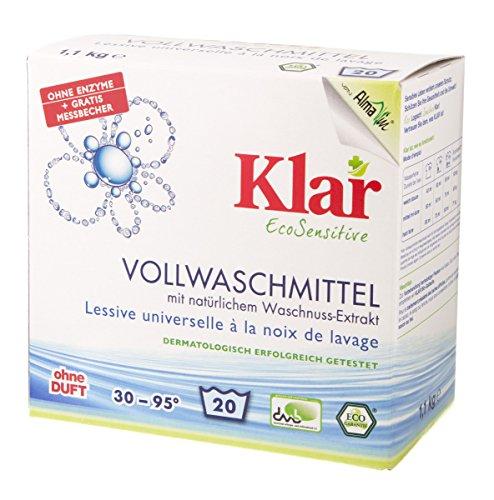 Klar Bio Vollwaschmittel Pulver (1 x 1,10 kg)