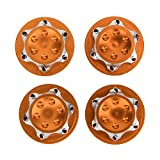 Tbest Écrou de moyeu RC, Accessoire de Roue d'écrou de moyeu Anti-poussière en Alliage d'aluminium 17mm 4Pcs pour modèle de Voiture 1/8 RC(Orange)