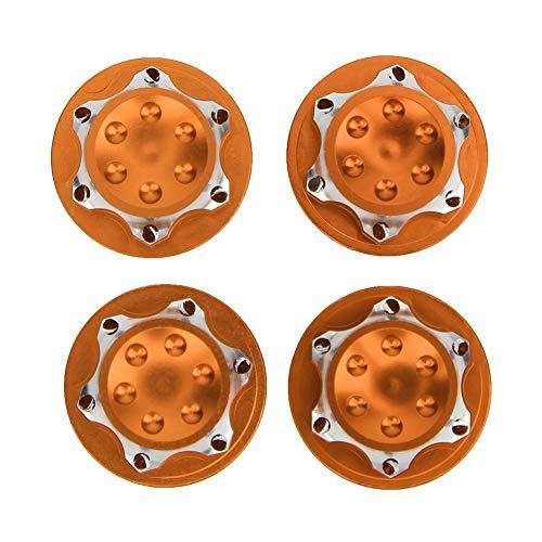 Wosune Tuerca para buje RC de 17 mm, Cubierta Antipolvo Diseño Antideslizante Tuerca para buje RC, Material plástico de Calidad Fácil de Transportar Estable para Jugar en casa Visitas(Orange)