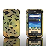 CoverON Slim Hard Case for LG Optimus Dynamic II with Cover Removal Tool - (Be Free Birds)