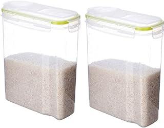 Conteneurs de stockage de céréales 2 pcs avec couvercles de stockage de grandes capacités Stockage alimentaire Bonne étanc...