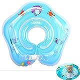 GSJDD Baby schwimmring, Baby-Schwimm-Hals-Ring mit Glocken,Kleinkind Schwimmhilfe Schwimmt Ring, für Kinderim Alter von 6 bis 36 Monaten-Blue Chuxiaqiu