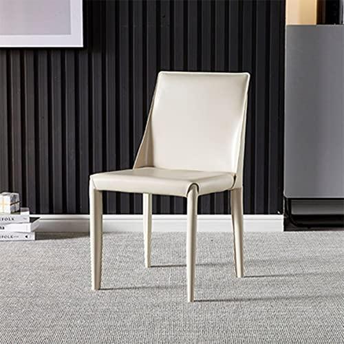 Silla de comedor de lujo y luz moderna, silla de cuero minimalista para el hogar, respaldo de restaurante, mesa de comedor y silla de diseño para silla de oficina, oficina en casa, sillas de camping