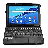 MQ für Huawei MediaPad M5 lite 10.1 - Bluetooth Tastatur Tasche mit Multifunktions-Touchpad für Huawei MediaPad M5 lite LTE 10.1, M5 lite WiFi 10.1 | Hülle mit Tastatur Deutsch QWERTZ