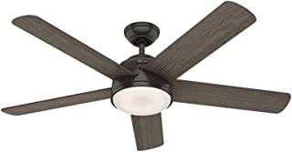 Hunter Indoor Wifi Ceiling Fan with LED Light and remote control - Romulus 54 inch, Nobel Bronze, 59479