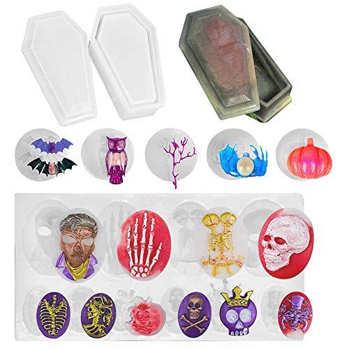 FineGood 7 Conjunto de silicona molde de resina para Halloween