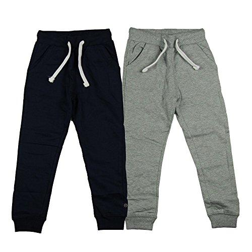 MINYMO Jungen Minymo 2er Pack Sweat Pants/Freizeithose fürJungen Hose, Mehrfarbig (Dark Navy/Grau 778), 98 EU