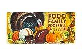 Seasonal, Easy to Clean, Evergreen Thanksgiving Family Football Holiday Sassafras Mats