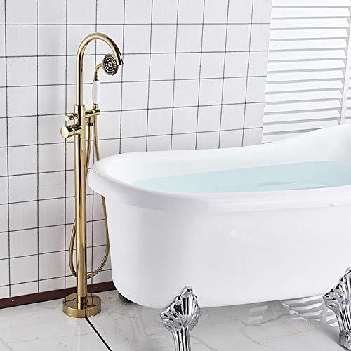 NGHXZ douche, badkraan, bevestiging op de vloer, armatuur voor badkuip met draaibare uitloop, kraan voor het neerzetten op poten