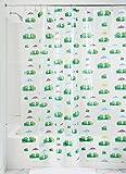 iDesign Frogs Schimmel-/Spakresistenter Wasserdichter Duschvorhang aus PEVA, 180 x 200 cm, mehrfarbig