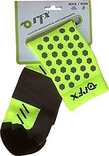 RFX, High Visibility Reflective Socks, Compression, Activewear, Running, Cycling, hi-vis
