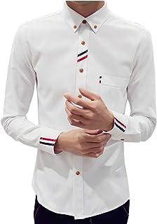 [エアバイ] 長袖 シャツ ワイシャツ シンプル トリコロール 部屋着 メンズ S~XL