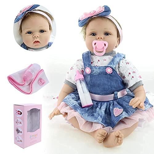 ZIYIUI Bambola Reborn Femmina 22 Pollici Realistico Vinile Silicone Morbido Simulazione Bambino 55 CM Bambole Reborn Babies Regalo di Compleanno Giocattoli