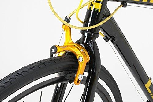 LIG(リグ)クロスバイク700Cシマノ7段変速[サムシフター]前輪クイックリリース前後キャリパーブレーキLIGMOVE【ブラック】