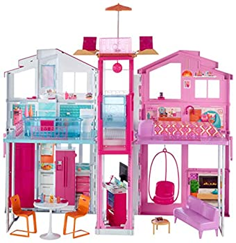 Barbie 3-Story House with Pop-Up Umbrella Multicolor [Amazon Exclusive]