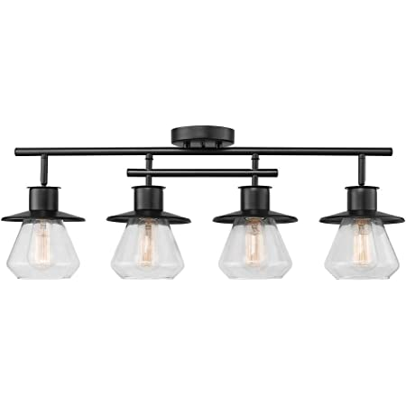 Globe Electric 59530 Nate 4 Track Lighting, Dark Bronze